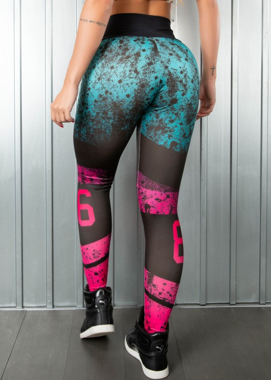 Calça Legging Sublimada Gradient