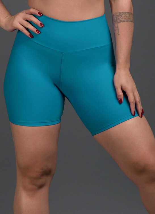 Short Fitness Poliamida Basic Turquesa