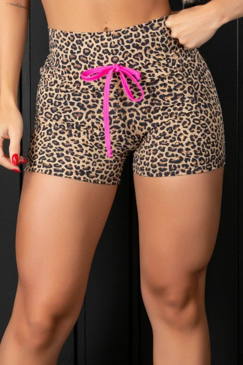 Short Fitness Animal Print
