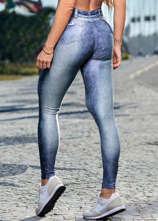 Calça Legging Fake Jeans Addiction