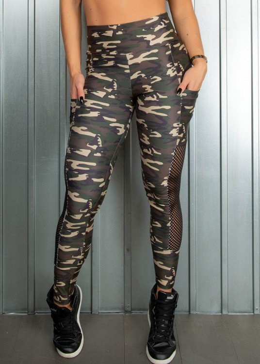Legging Fitness Sublimada I can Com bolsos Laterais