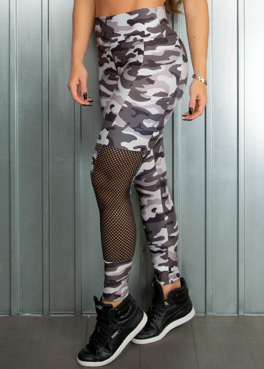 Legging Fitness Sublimada Believe Com bolsos Laterais