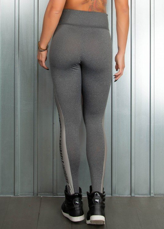 Legging Fitness Improve Yourself Mescla com Rosé
