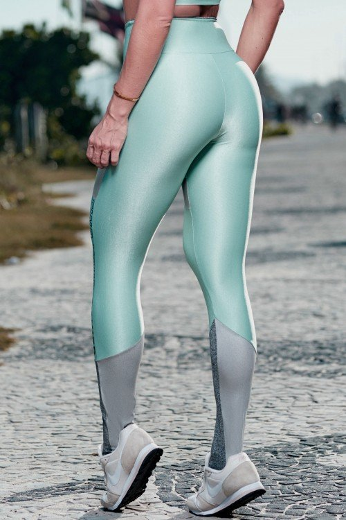 Calça Legging Poliamida Find Your Power Verde Água