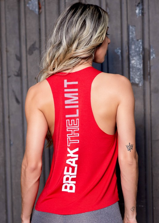 Regata Fitness Cavada Break The Limit Vermelho