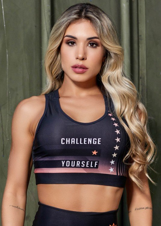 Top Fitness Sublimado Challenge Yourself