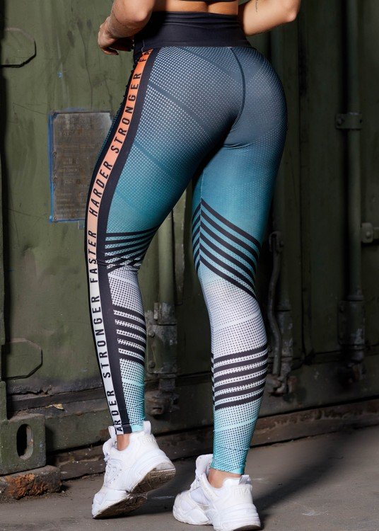 Calça Legging Sublimada Harder Faster Stronger