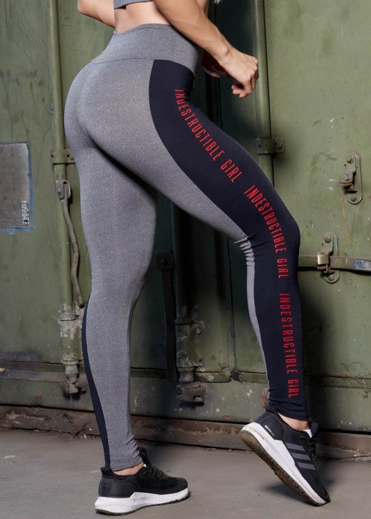 Calça Legging Fitness Indestructible Girl Mescla